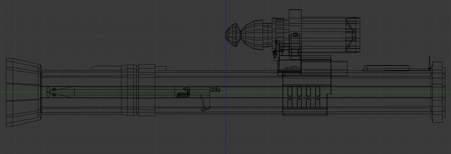 Rocket Launcher (Low Poly) royalty-free 3d model - Preview no. 6