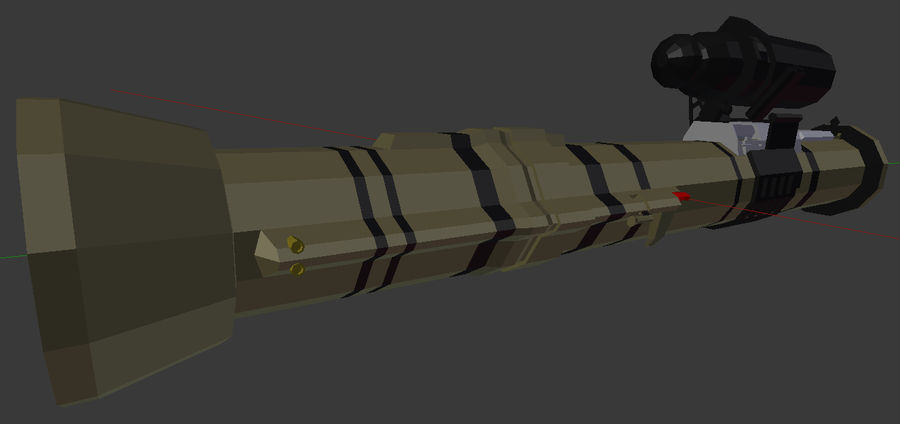 Rocket Launcher (Low Poly) royalty-free 3d model - Preview no. 2
