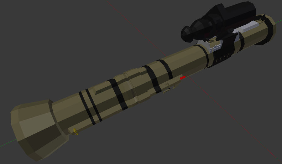 Rocket Launcher (Low Poly) royalty-free 3d model - Preview no. 3