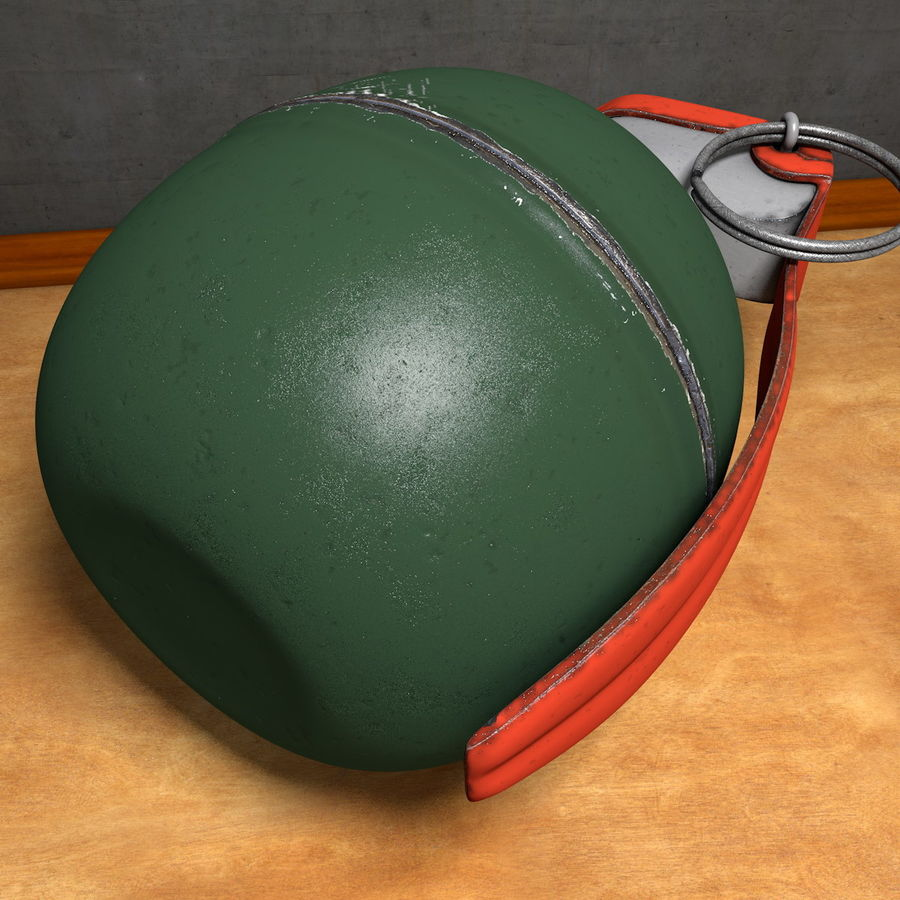 Realistic Fragmentation Hand Grenade royalty-free 3d model - Preview no. 8