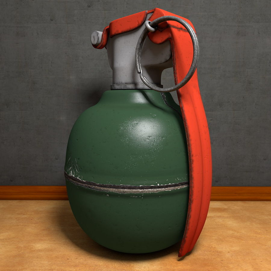 Realistic Fragmentation Hand Grenade royalty-free 3d model - Preview no. 1