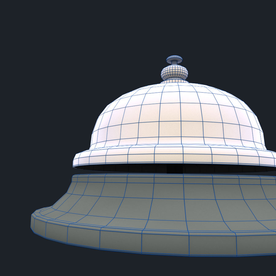 Hotel Bell royalty-free 3d model - Preview no. 7
