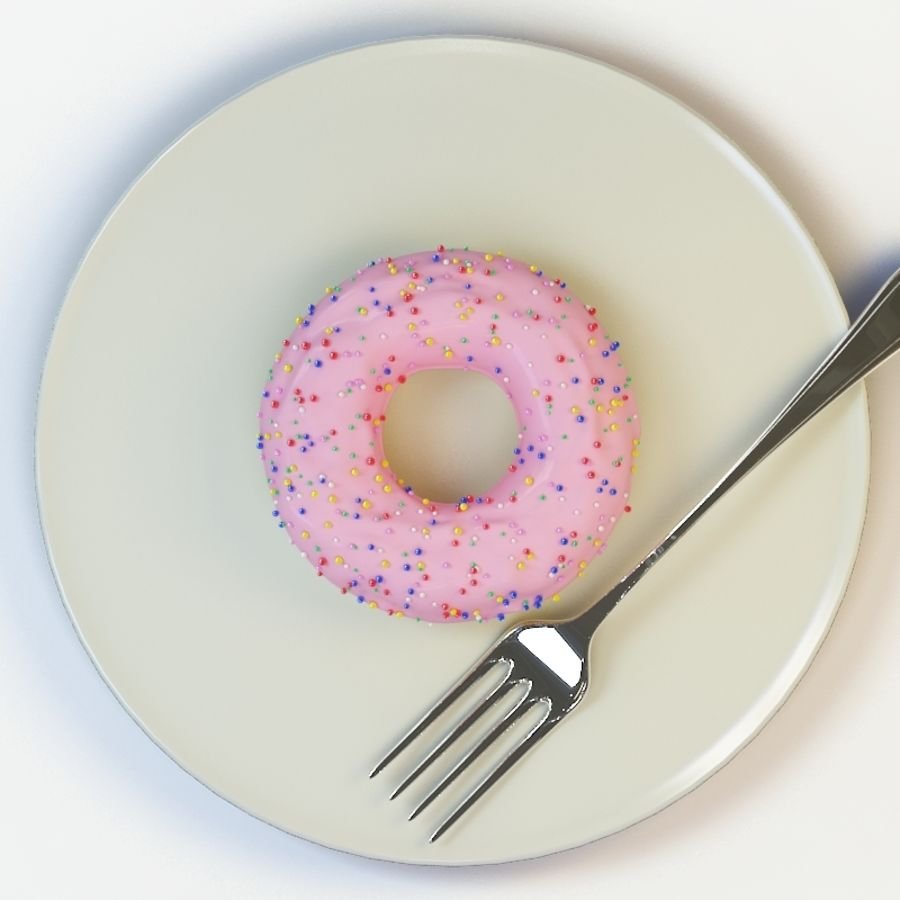 Donut_09 royalty-free 3d model - Preview no. 3