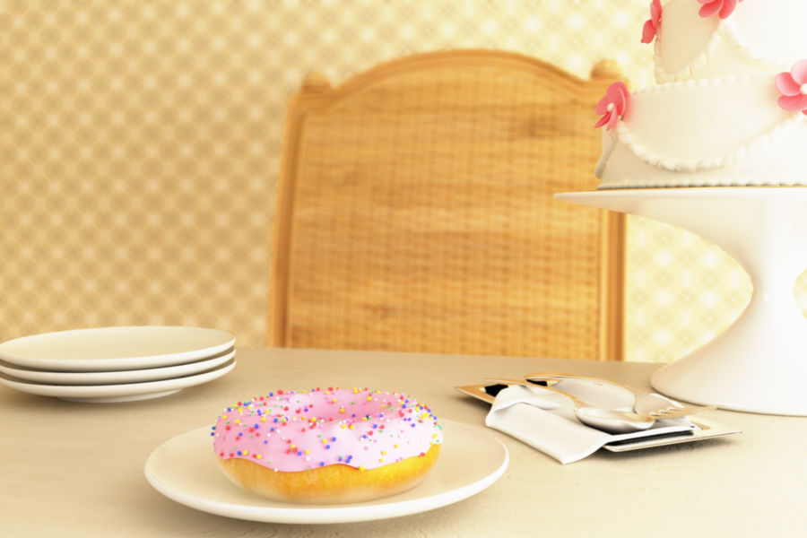 Donut_09 royalty-free 3d model - Preview no. 6