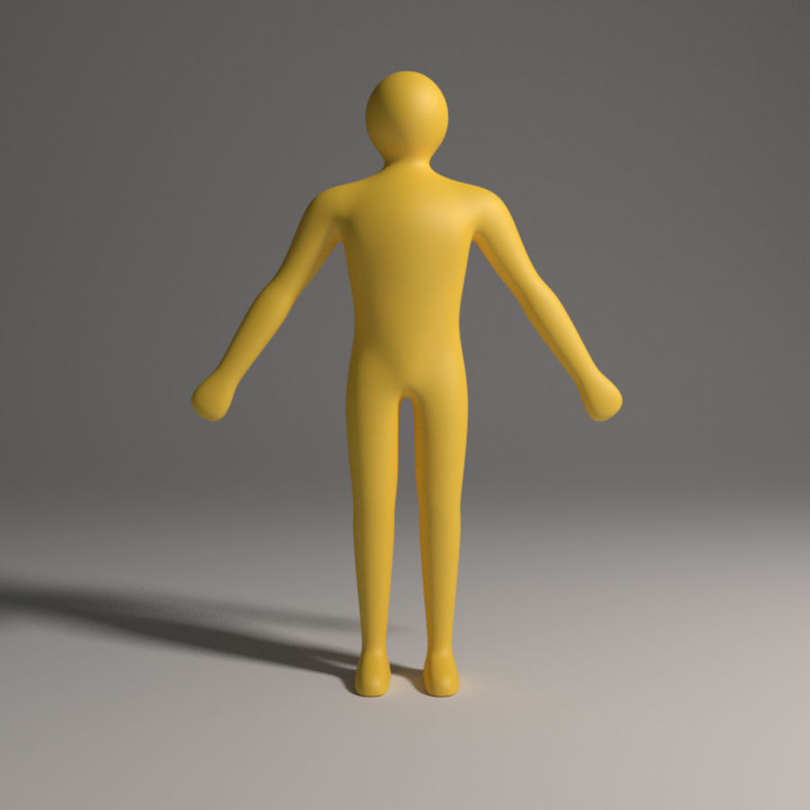 Caractère simple royalty-free 3d model - Preview no. 2