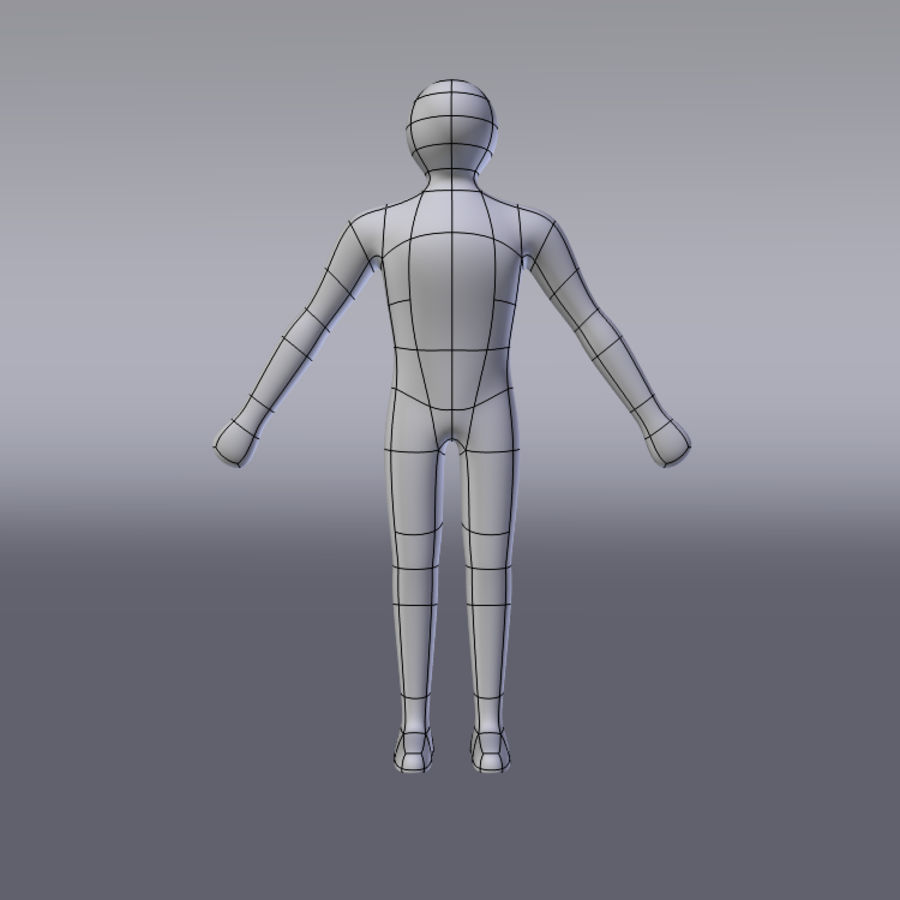 Caractère simple royalty-free 3d model - Preview no. 5