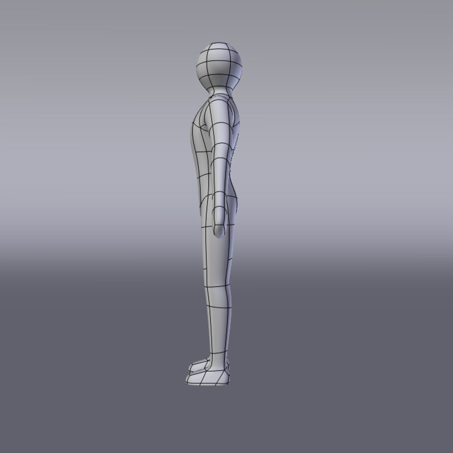 Simple Character royalty-free 3d model - Preview no. 4
