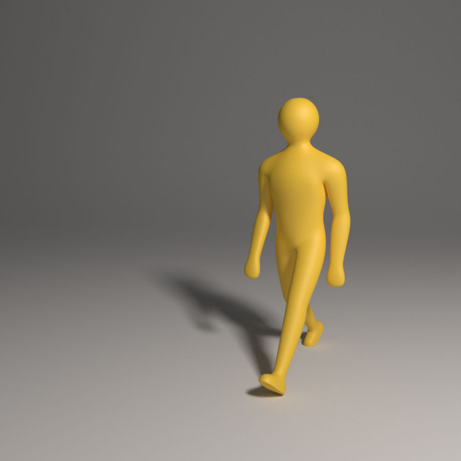 Caractère simple royalty-free 3d model - Preview no. 1