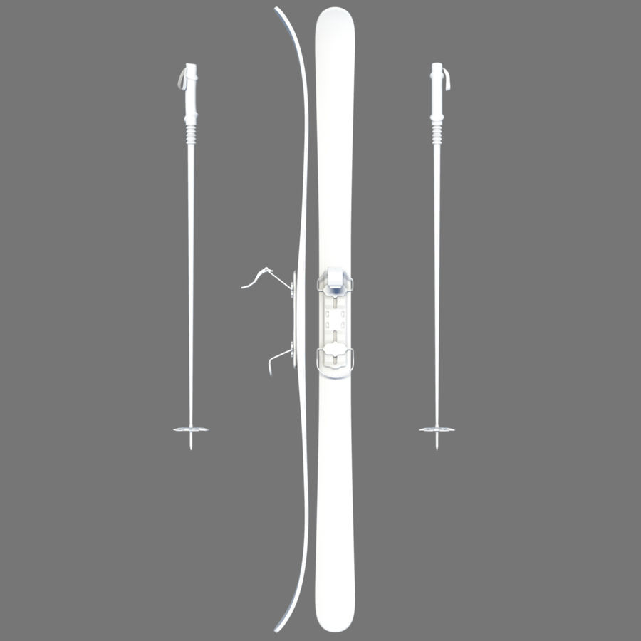 ski board 06 royalty-free 3d model - Preview no. 4