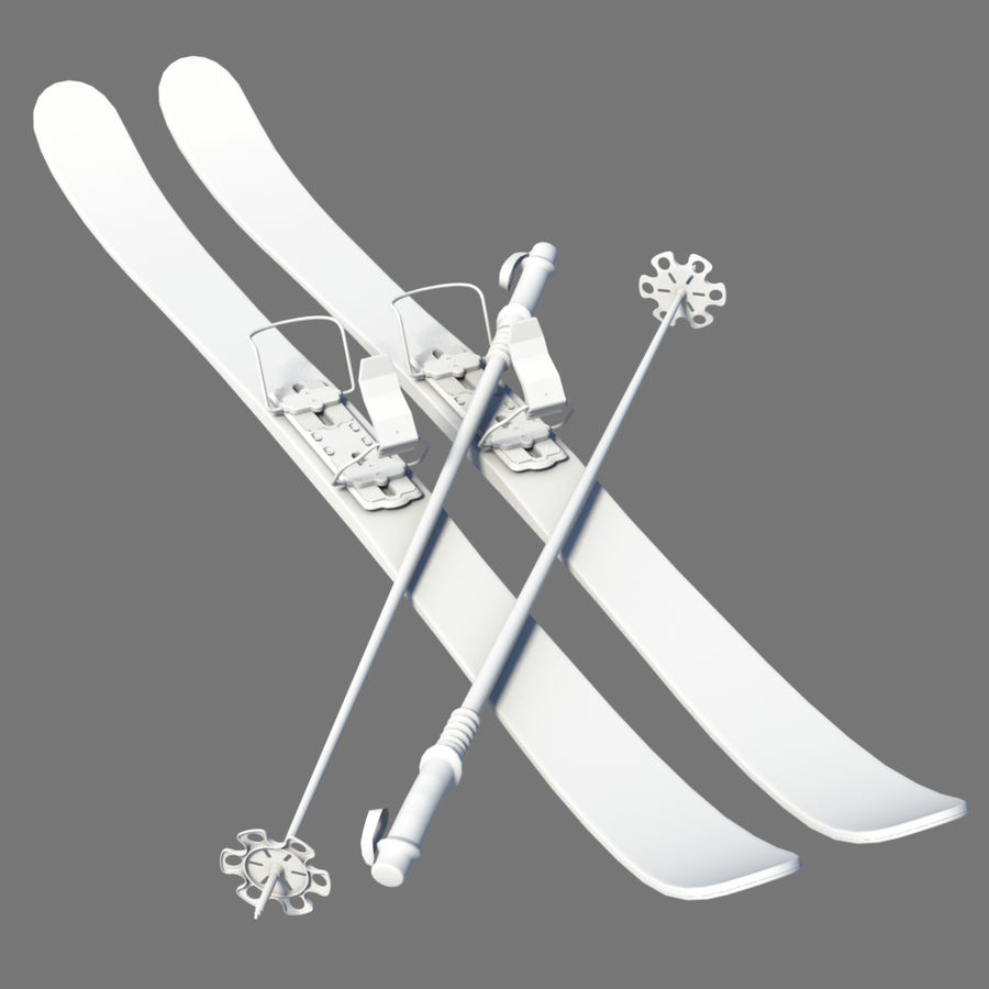 ski board 06 royalty-free 3d model - Preview no. 1