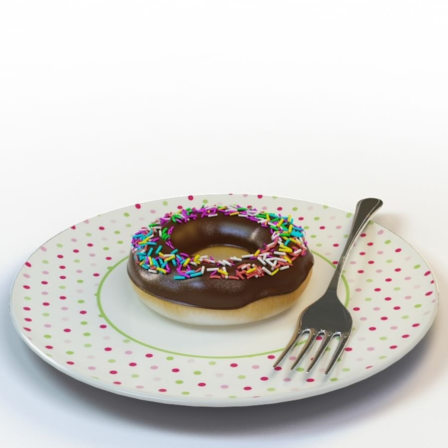Donut_08 royalty-free 3d model - Preview no. 2
