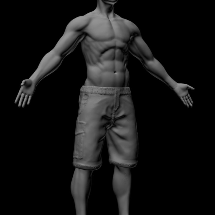 Realistic Male Body royalty-free 3d model - Preview no. 1