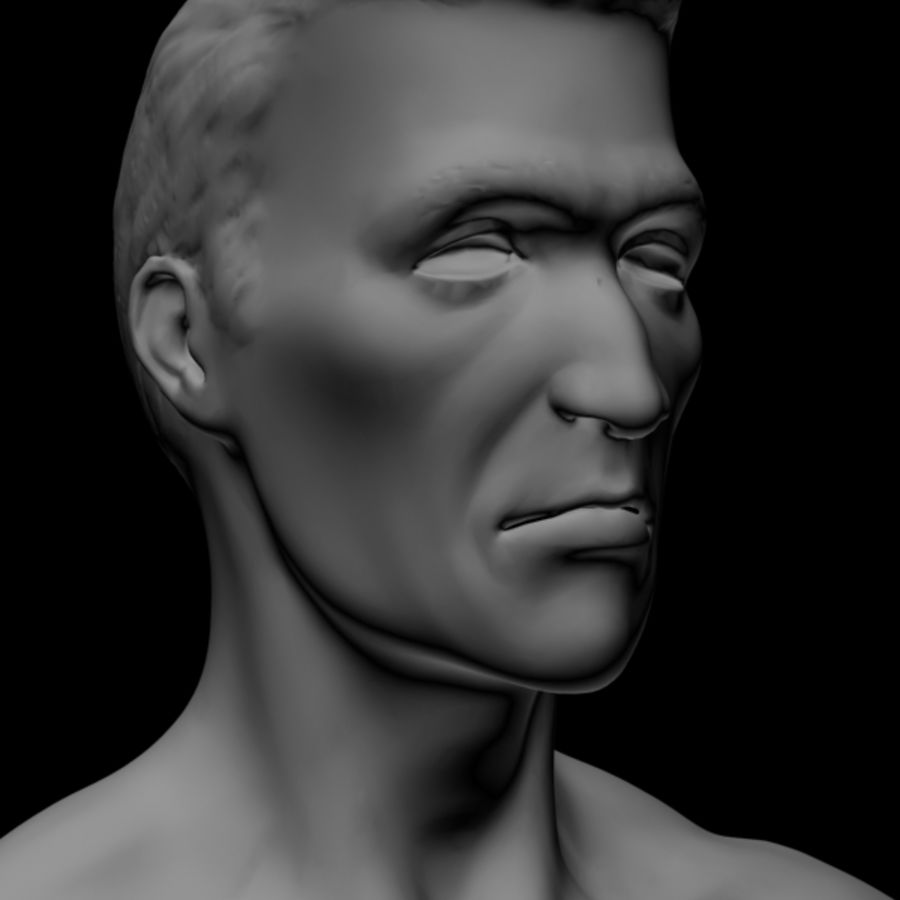 Realistic Male Body royalty-free 3d model - Preview no. 2