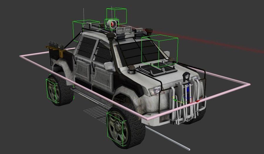 Car war royalty-free 3d model - Preview no. 3