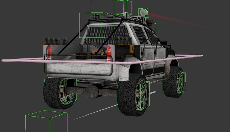 Car war royalty-free 3d model - Preview no. 8