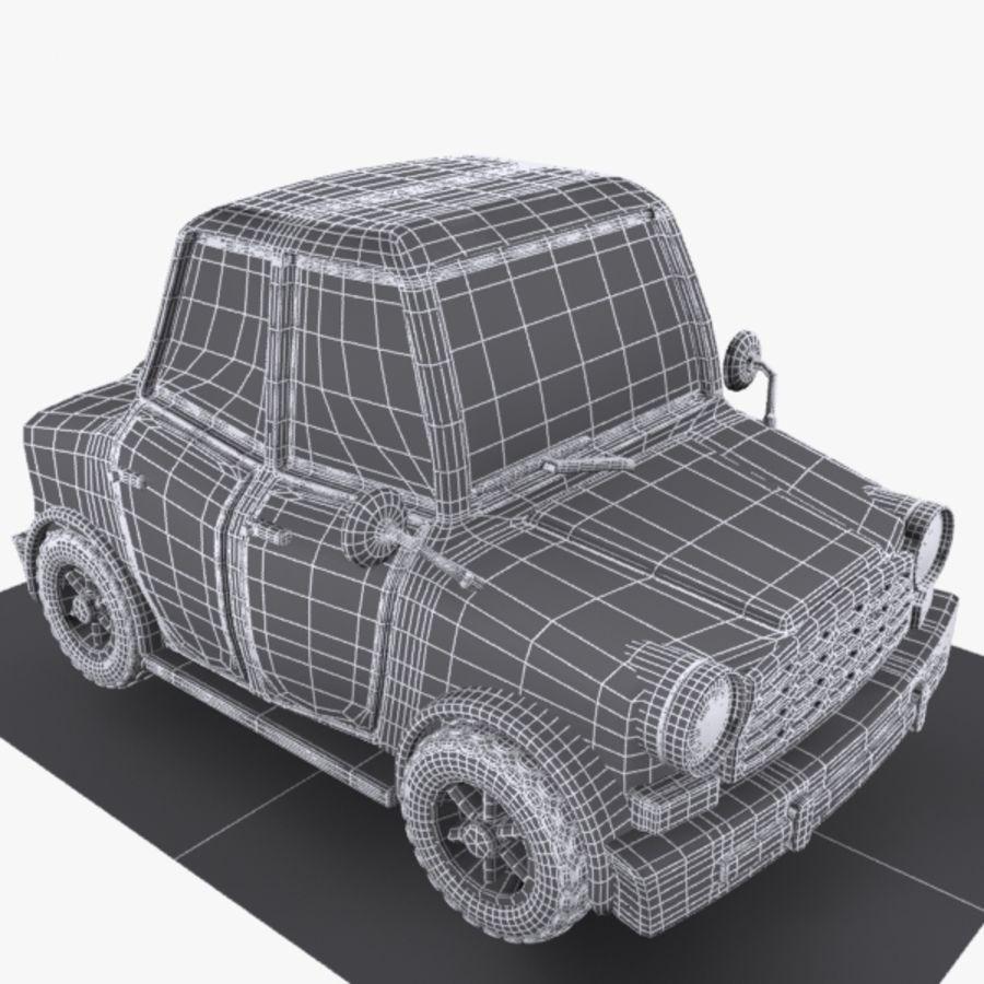 Cartoon Car 1 royalty-free 3d model - Preview no. 8