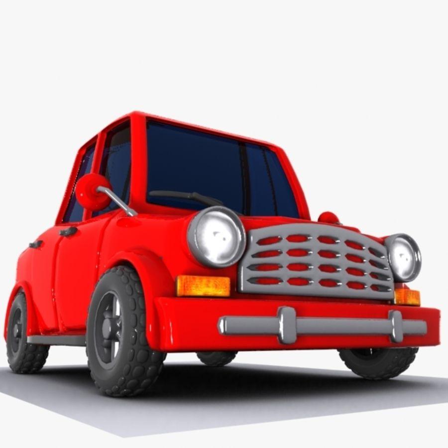 Cartoon Car 1 royalty-free 3d model - Preview no. 4