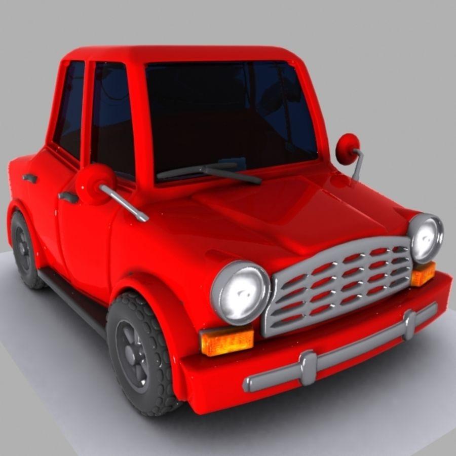 Cartoon Car 1 royalty-free 3d model - Preview no. 2