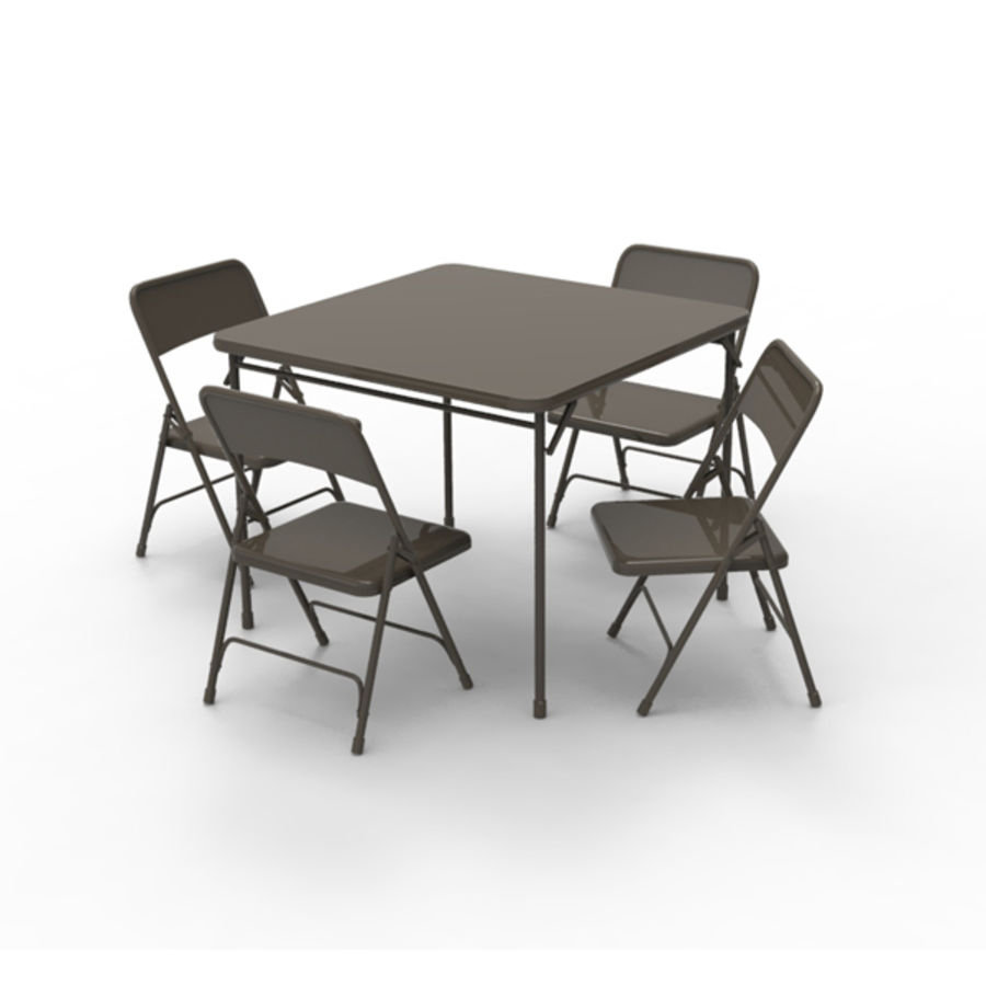 - Card Table And Chairs 3D Model $16 - .obj .max .ma .fbx - Free3D
