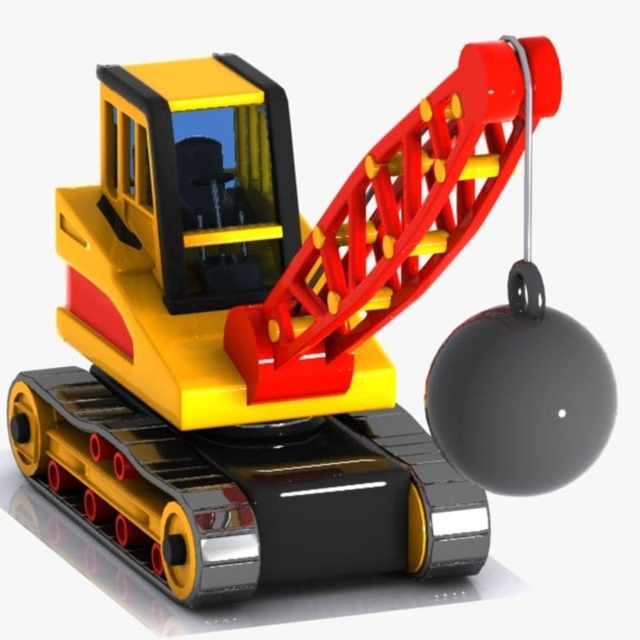 Cartoon Wrecking Ball Crane royalty-free 3d model - Preview no. 4