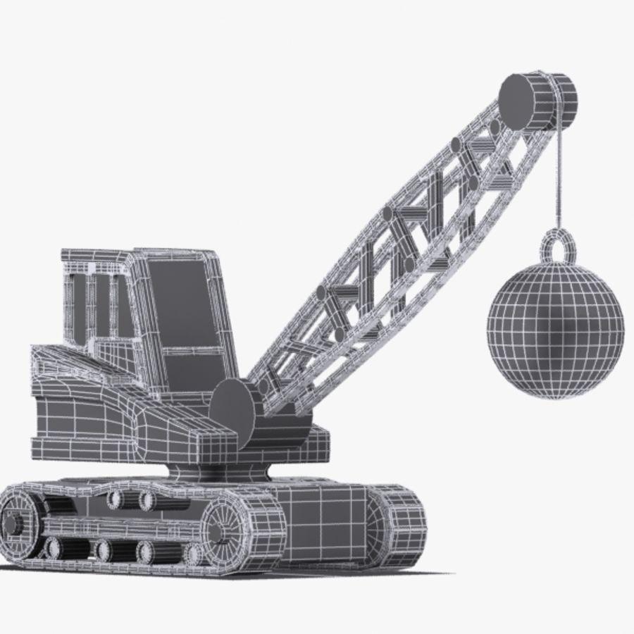 Cartoon Wrecking Ball Crane royalty-free 3d model - Preview no. 7