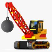 Cartoon Wrecking Ball Crane 3d model
