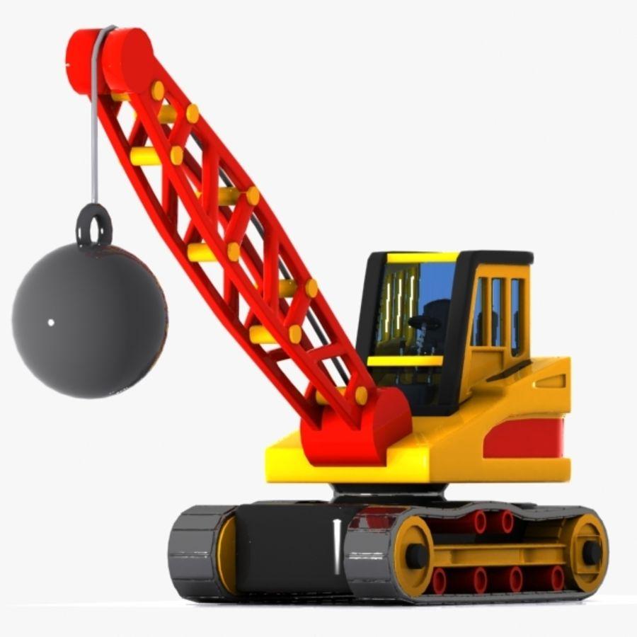 Cartoon Wrecking Ball Crane royalty-free 3d model - Preview no. 1