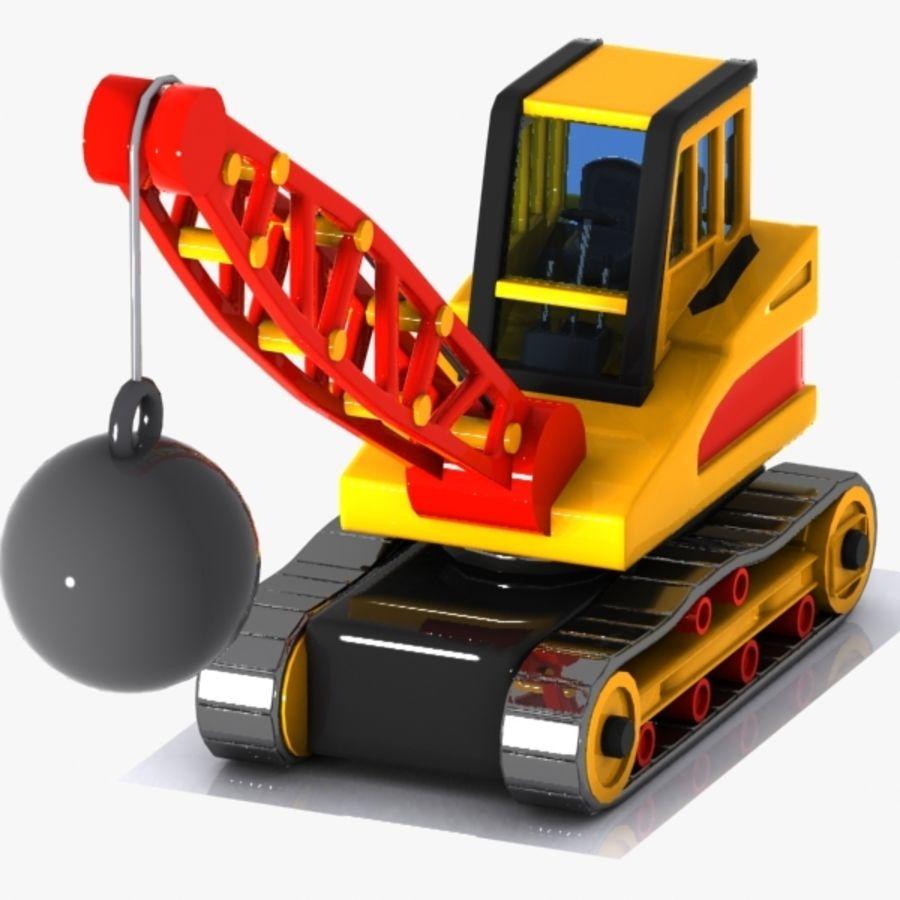 Cartoon Wrecking Ball Crane royalty-free 3d model - Preview no. 3