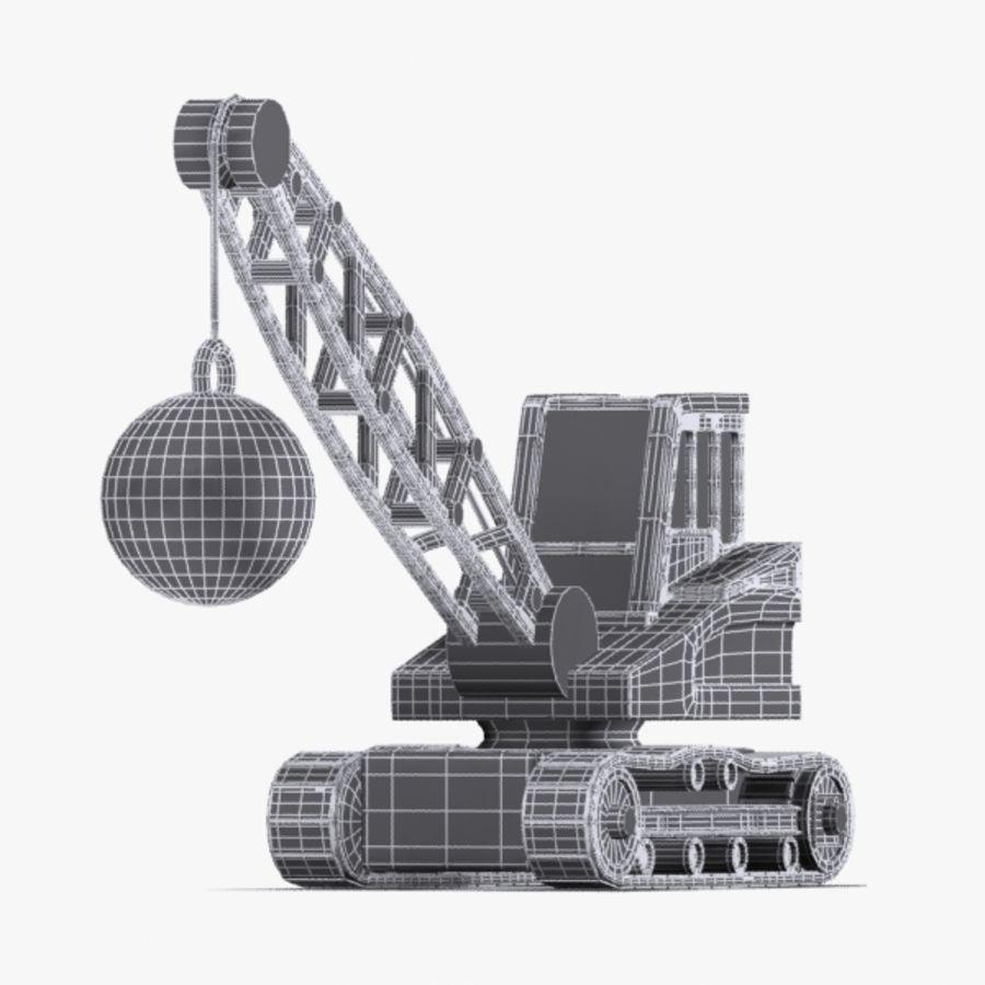 Cartoon Wrecking Ball Crane royalty-free 3d model - Preview no. 6