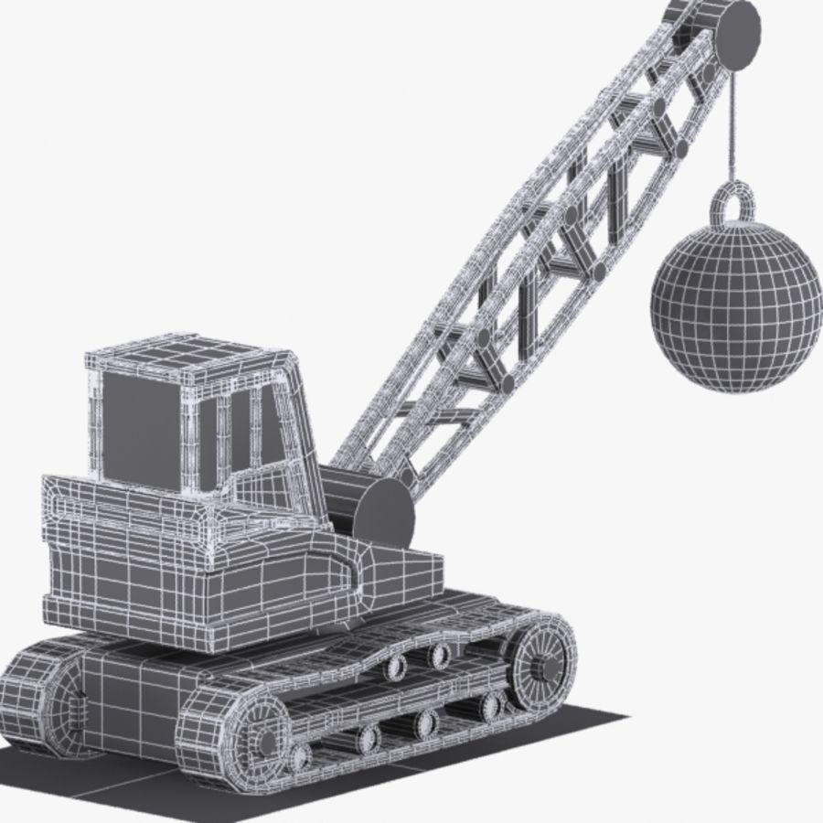 Cartoon Wrecking Ball Crane royalty-free 3d model - Preview no. 9