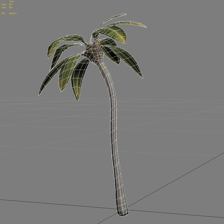 Low Poly Palm Tree Game Ready 3D Model $5 -  unknown  max  obj  fbx