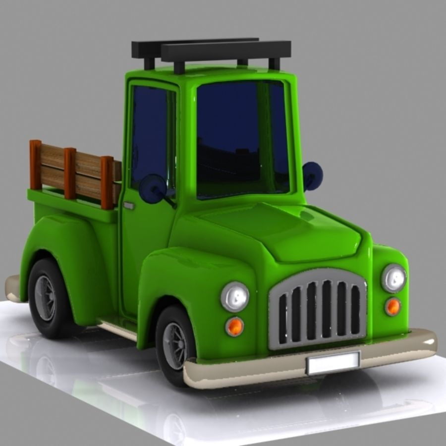 Camionnette De Dessin Animé 1 Modèle 3d 15 Unknown Max