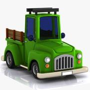 Cartoon Pickup Truck 1 3d model