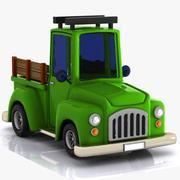 漫画ピックアップトラック1 3d model