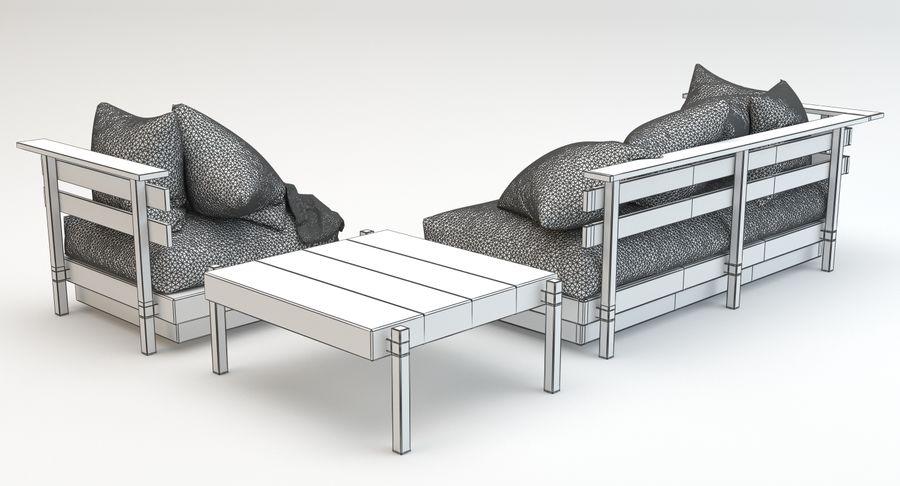 Marvelous Mudo Outdoor Sofa Set 3D Model 9 Obj Fbx Max Free3D Inzonedesignstudio Interior Chair Design Inzonedesignstudiocom
