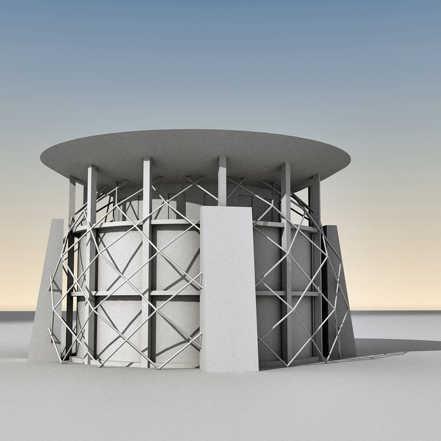 Modern Building 013 royalty-free 3d model - Preview no. 11