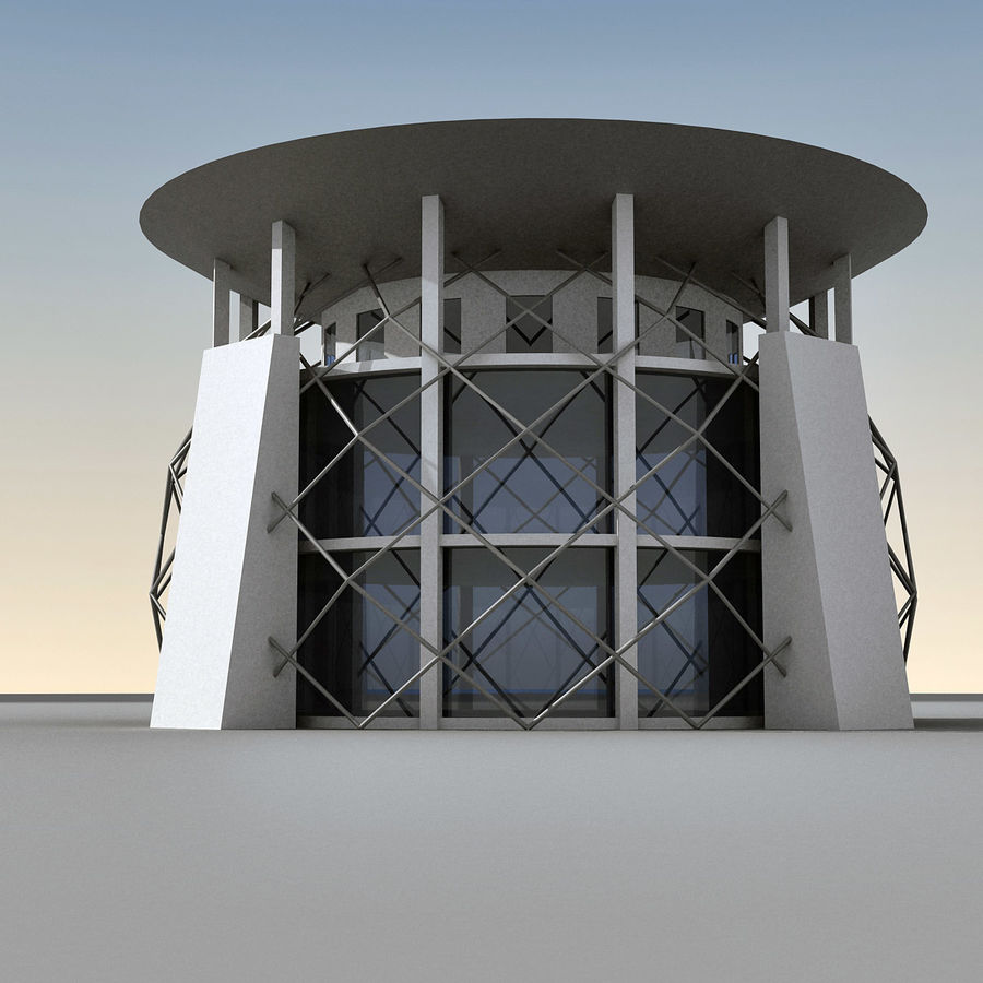 Modern Building 013 royalty-free 3d model - Preview no. 3