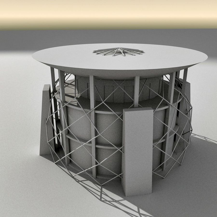 Modern Building 013 royalty-free 3d model - Preview no. 13