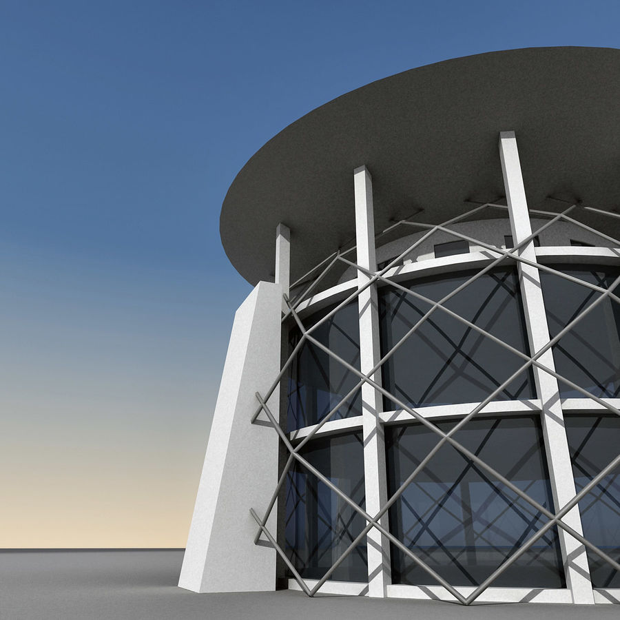 Modern Building 013 royalty-free 3d model - Preview no. 5