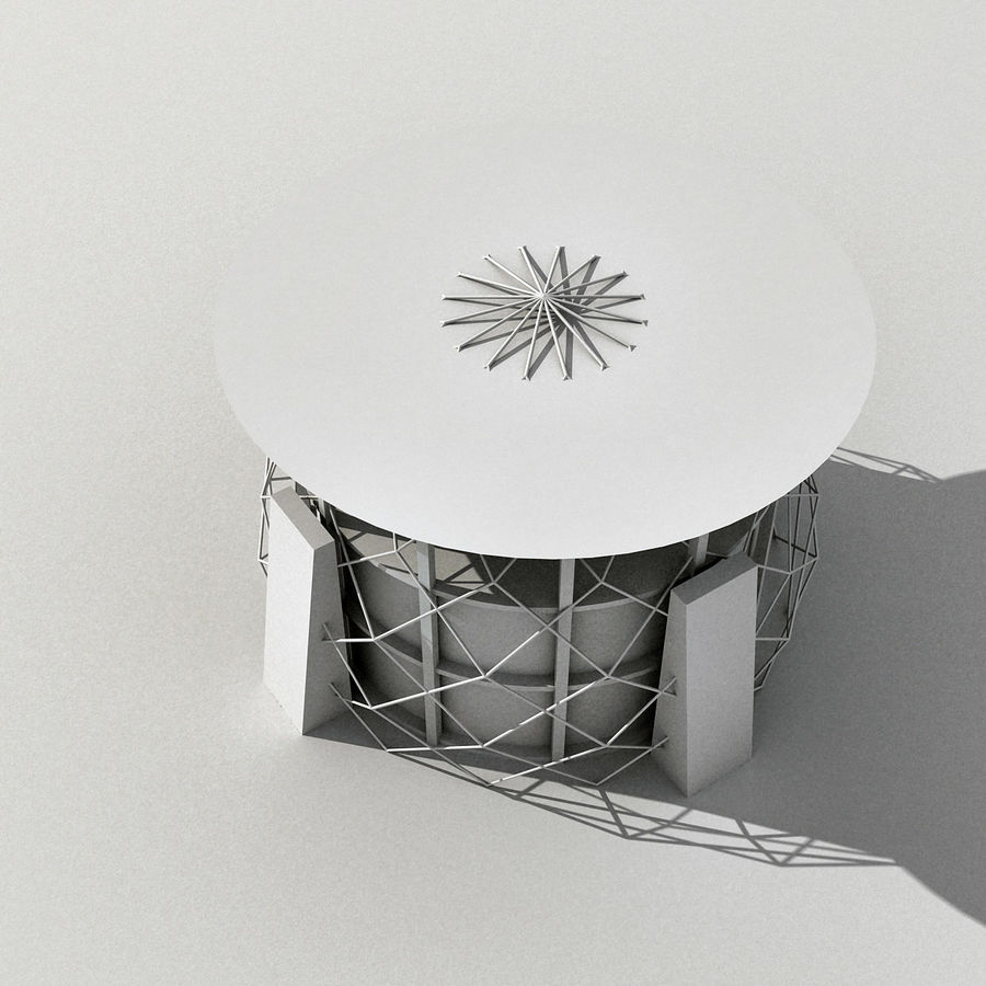 Modern Building 013 royalty-free 3d model - Preview no. 14