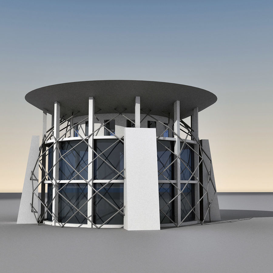 Modern Building 013 royalty-free 3d model - Preview no. 4
