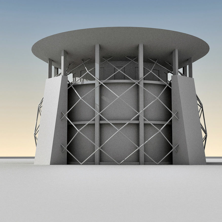 Modern Building 013 royalty-free 3d model - Preview no. 10