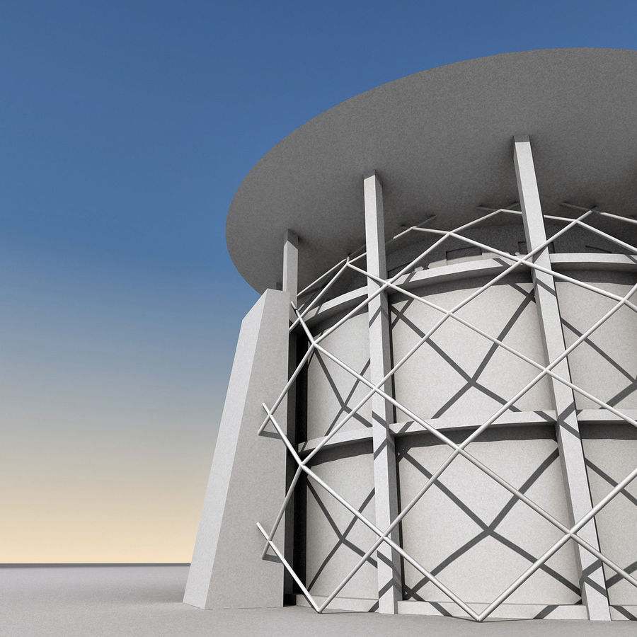 Modern Building 013 royalty-free 3d model - Preview no. 12