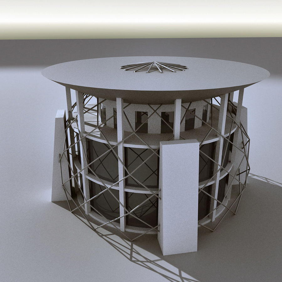 Modern Building 013 royalty-free 3d model - Preview no. 6