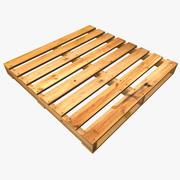 Paleta de madera modelo 3d