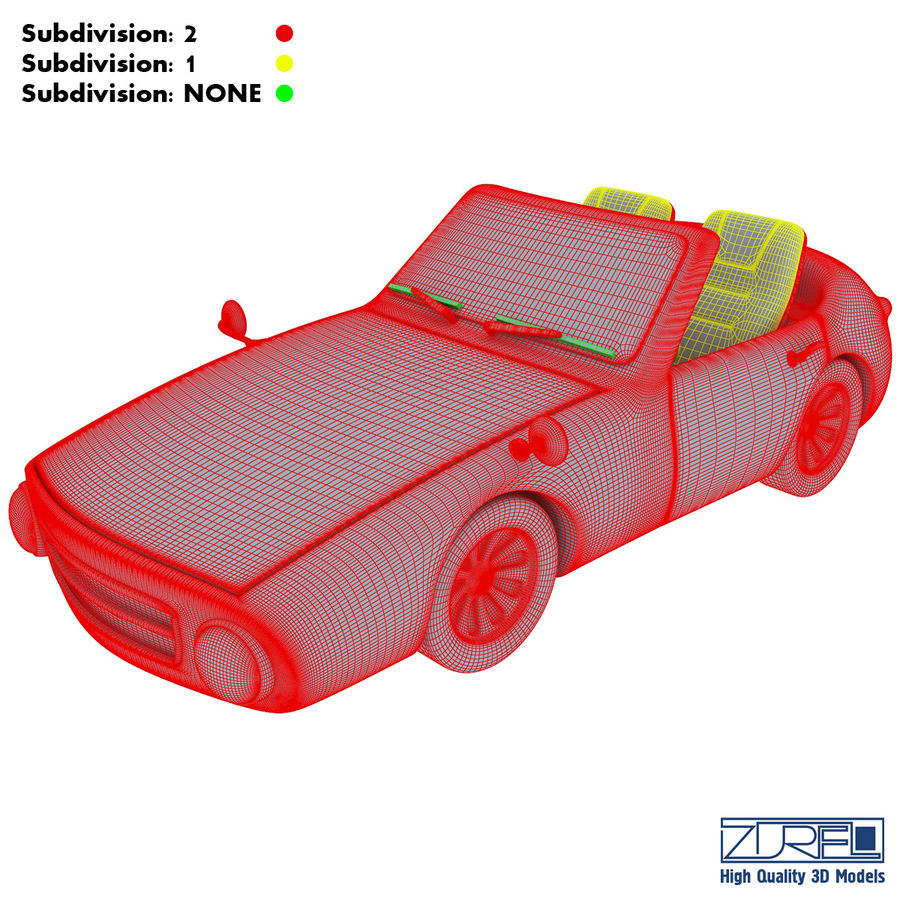 Sport car royalty-free 3d model - Preview no. 18