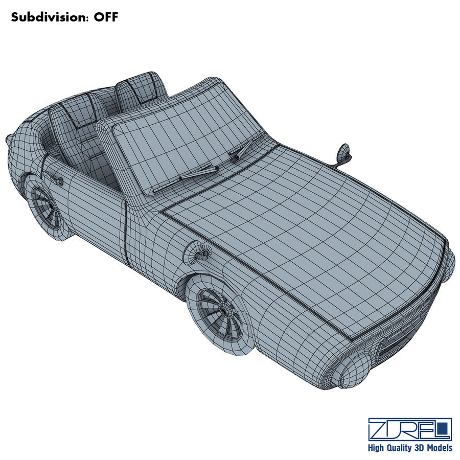 Sport car royalty-free 3d model - Preview no. 13