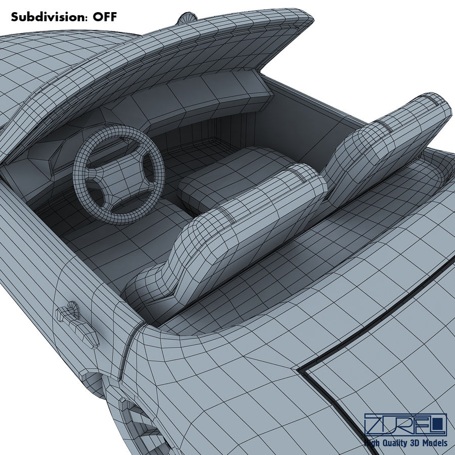 Sport car royalty-free 3d model - Preview no. 17