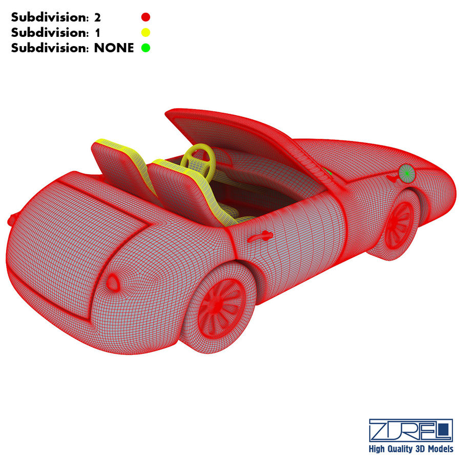 Sport car royalty-free 3d model - Preview no. 19