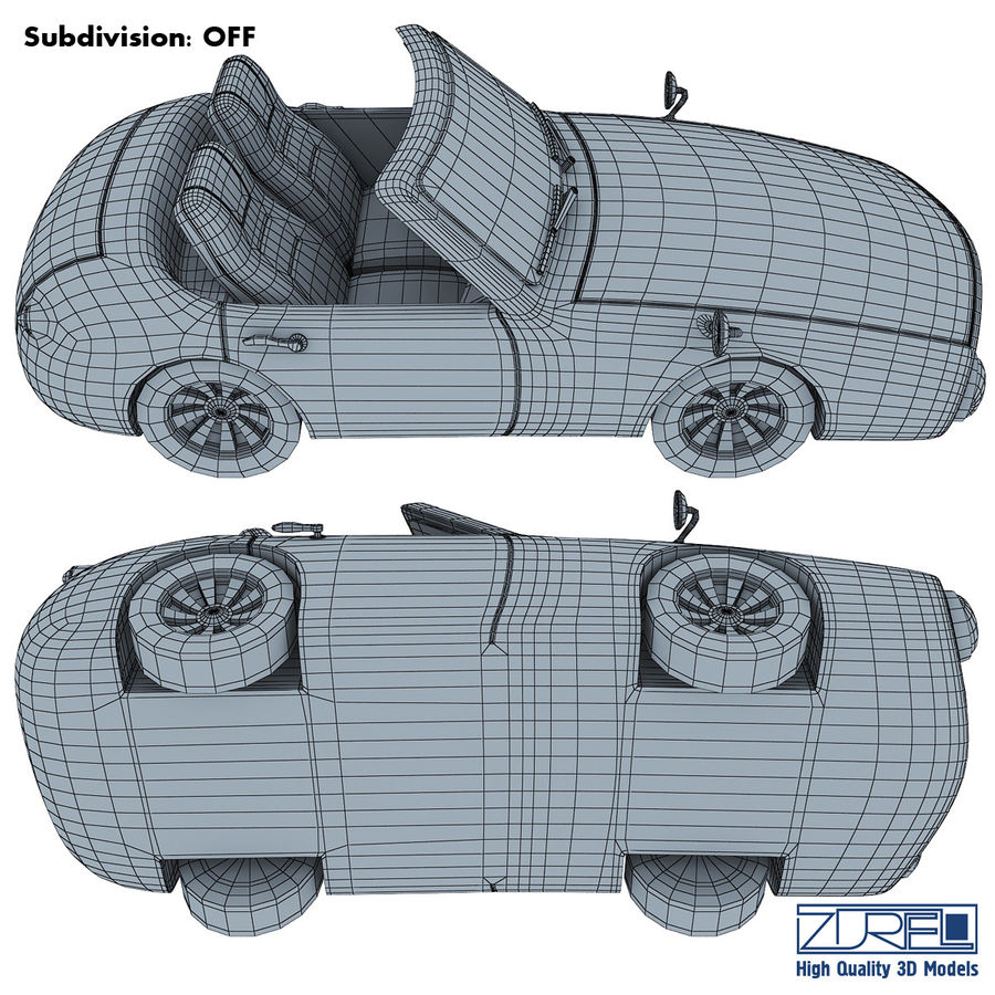 Sport car royalty-free 3d model - Preview no. 15